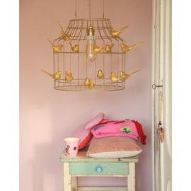 Dutch Dilight - hanglamp vogels goud