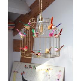 Dutch Diligt - hanglamp vogels goud mixed