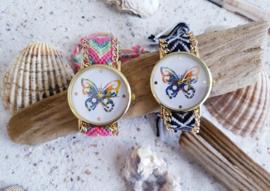 Butterfly Horloge - Zwart/Wit