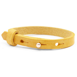 Cuoio armbanden leer Mineral yellow