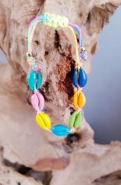 Schelpen armband - colourfull shell