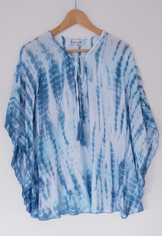 Poncho Tie Dye Blue - S/M
