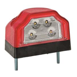 LED Kentekenverlichting rood 12-36v