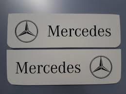 Spatlappen voorkant Mercedes 18x160  wit zwart