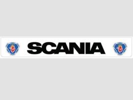 Spatlap achterbumper wit Scania in zwart en Griffioen opdruk