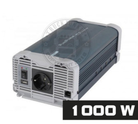 1000W - ZUIVER SINUS OMVORMER - PURE POWER 24-220V