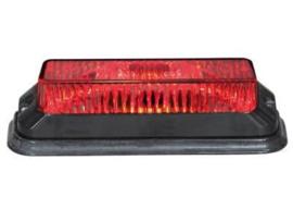 Flitser 4 x 3W LED, 12-24V Rood