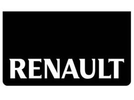 Spatlap voorbumper zwart + Renault wit