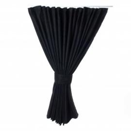 Zijgordijn 90 cm zwart