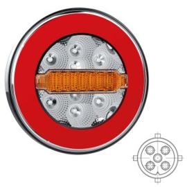 LED ACHTERLICHT Y-HOMOLOGATIE ZONDER KENT.VERL. 12/36V 5 PIN