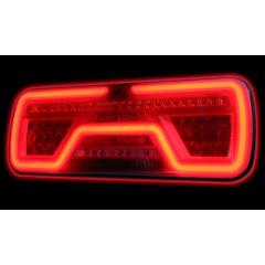LED Neon achterlicht rechts, dyn.knipp.licht 2m. kabel 12/24v