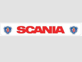 Spatlap achterbumper wit Scania in rood en Griffioen opdruk