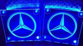 2x Lichtbakjes Mercedes 15x15