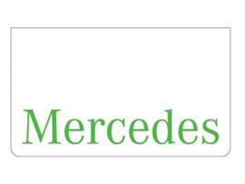 Spatlap voorbumper wit + Mercedes groen