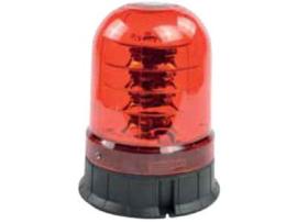 LED zwaailamp ROOD lampglas 12-24V