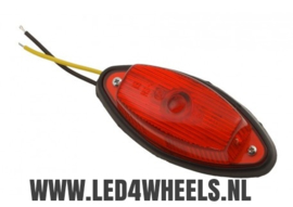 Markerings lamp 12/24 volt rood