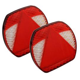 TWINPACK LED slimline achterlichten 12-24v
