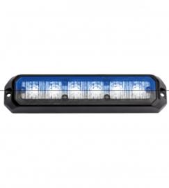 Led flitsers blauw/wit 12/24 volt