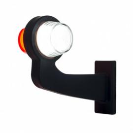 LED PENDELLAMP RECHTS, HAAKSE STEEL & MATTE LENS,DEENS MODEL 12/24V
