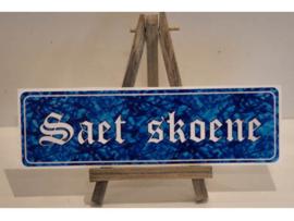 Saet Skoene - blauw pluche