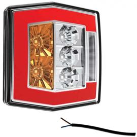 LED compact achterlicht met kentekenverl. 12v/36v 1m kabel