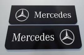 Spatlappen voorkant Mercedes 18x60  zwart wit