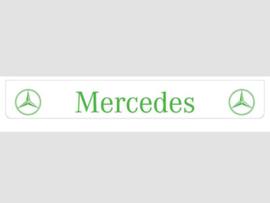 Spatlap achterbumper wit Mercedes met groene opdruk