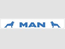 Spatlap achterbumper wit MAN in blauw