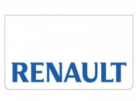 Spatlap voorbumper wit + Renault blauw