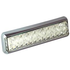 LED achteruitrijlicht chrome slimline  12-24v