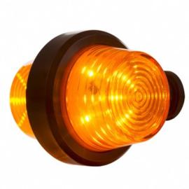 LED PENDELLAMP AMBER, KORTE STEEL & HELDERE LENS, DEENS MODEL 12/24V