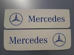 Spatlappen voorkant Mercedes 18x60 wit blauw set