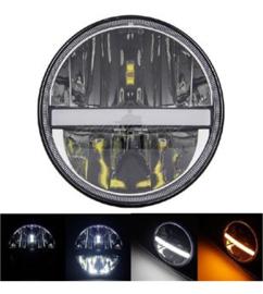 Black LED koplamp DRL - set