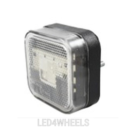 Led markerings lamp vierkant wit met e keur