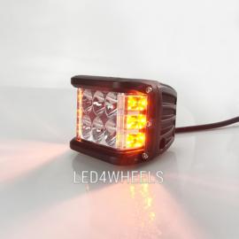 Led werklamp 36 watt met ingebouwde flitser oranje