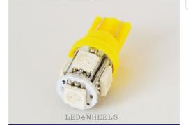 LED t10 w5w geel