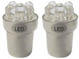 BA15s 5 W 5-LED's 24 V (2 stuks) wit