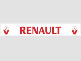 Spatlap achterbumper wit Renault in rood