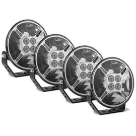 Set 4 stuks LED Verstraler met dagrijverlichting oranje/wit12.000 lumen 9-36v