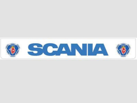 Spatlap achterbumper wit Scania in blauw en Griffioen opdruk