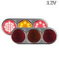 LED Combi lamp 12v  kleur chrome behuizing gekleurde lens