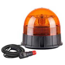 LED Zwaailamp Amber R65 met Magn- & zuig- montagevoet 12v/24v