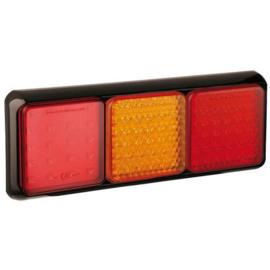 LED achterlicht met zwarte rand 12-24v