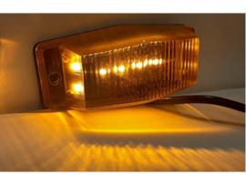 Full LED dubbelbrander met ORANJE lampglas