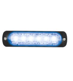 LED FLITSER BLAUW ST6 ZEER PLAT 12-24 VOLT