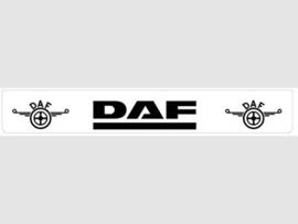 Spatlap achterbumper wit DAF met zwarte opdruk