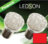 LED-LAMP ROOD - 360 13 DIODE P21/5W BAY15D