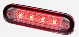 ROOD - C2-98 LED ZIJMARKERINGSVERLICHTING 12-24V inbouw