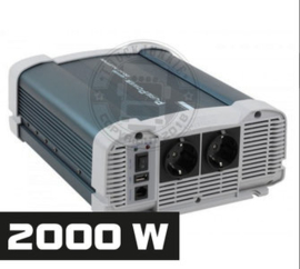 2000W - ZUIVER SINUS OMVORMER - PURE POWER 24-220V