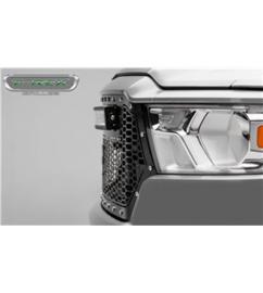 "DODGE RAM 1500 2019- Stealth Laser Torch Grille Chrome Studs incl 30"" Led"